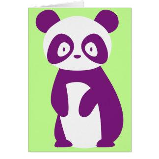 Carte de voeux pourpre de panda