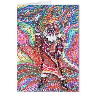 Carte de voeux psychédélique de Père Noël