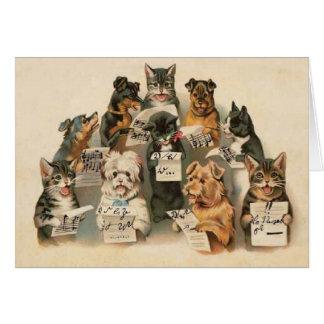 Carte de voeux quotidienne de chiens musicaux