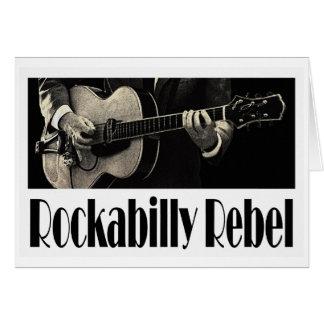 Carte de voeux rebelle de rockabilly