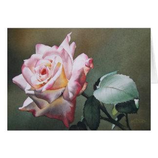 Carte de voeux rose de crépuscule