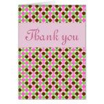 Carte de voeux rose de Merci de filles de point de