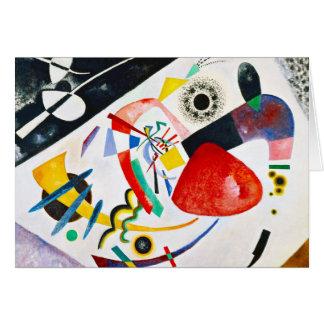 Carte de voeux rouge de tache de Kandinsky