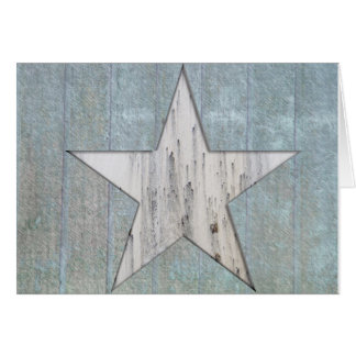 Carte de voeux rustique d'étoile