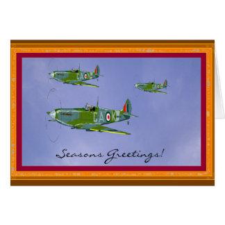 Carte de voeux saisonnière de Spitfire…