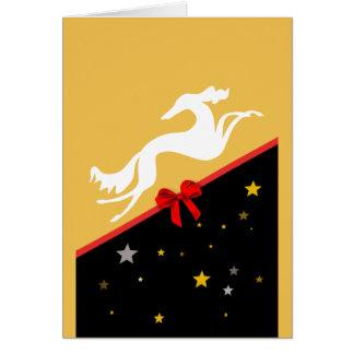Carte de vœux Saluki YIN