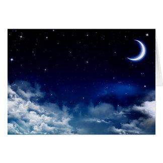 Carte de voeux silencieuse de nuit