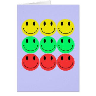 Carte de voeux souriante