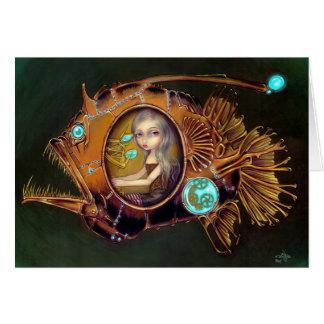 """Carte de voeux submersible de """"lotte de mer"""""""