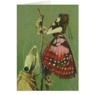 Carte de voeux surréaliste gothique de mites