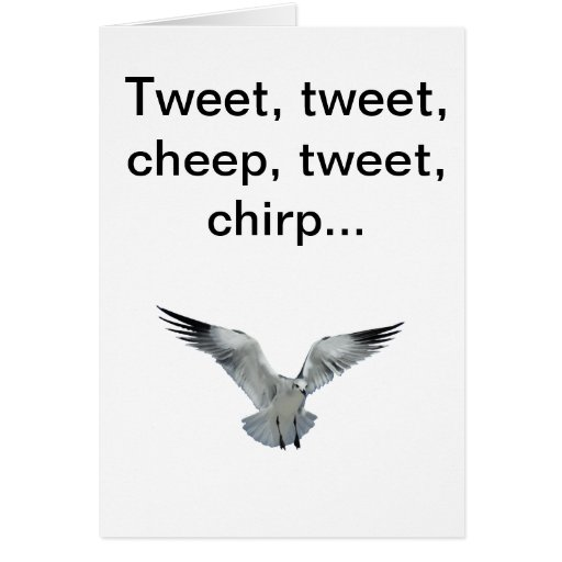Carte de voeux To/From l'oiseau