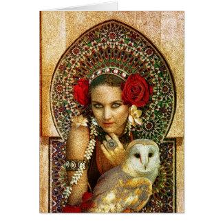 carte de voeux tribale de reine