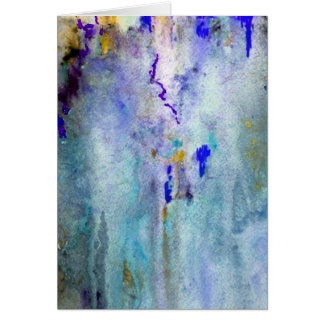 Carte de voeux turquoise de brume