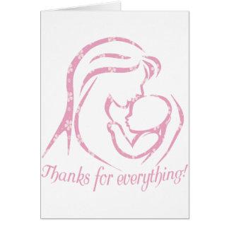 Carte de voeux unique du jour de mère