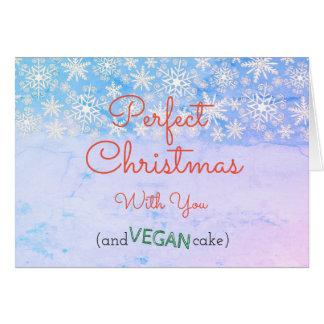 Carte de voeux végétalienne de Noël pour le