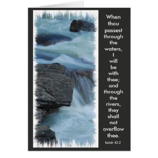 carte de voeux, vers de bible