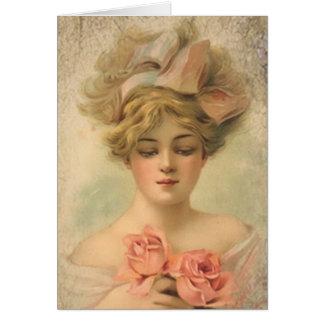 Carte de voeux victorienne classique de Madame