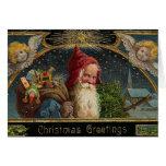 Carte de voeux victorienne de Père Noël de Noël