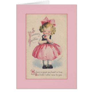 Carte de voeux victorienne de Saint-Valentin