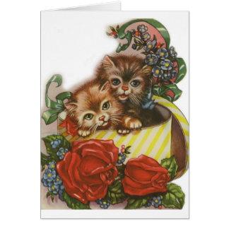 Carte de voeux victorienne de Saint-Valentin de