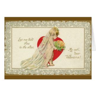 Carte de voeux victorienne de Valentine de