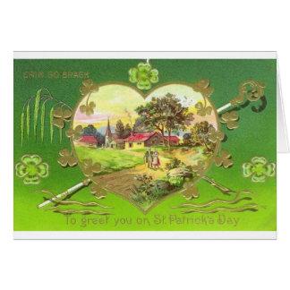 Carte de voeux victorienne du jour de St Patrick