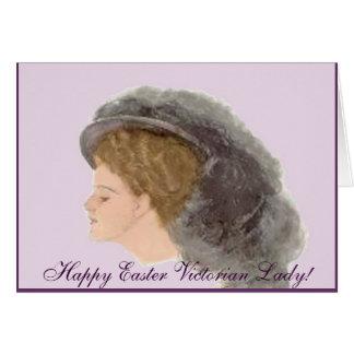 Carte de voeux victorienne heureuse de Madame de P