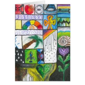 Carte de voeux vierge - conception colorée