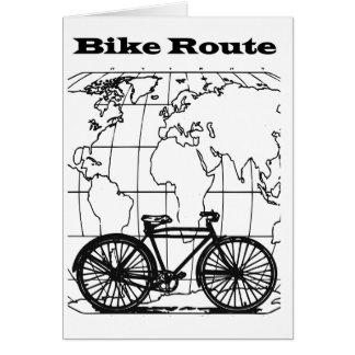 Carte de voeux vierge de bicyclette