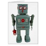 Carte de voeux vierge de robot