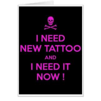 Carte de voeux vierge de tatouage