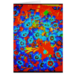 Carte de voeux vierge de Waxflower d'art de bruit
