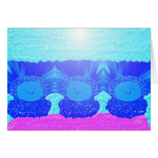 Carte de voeux vierge d'oiseaux bleus