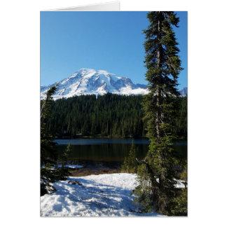 Carte de voeux vierge du mont Rainier