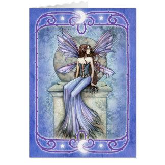 Carte de voeux vierge féerique céleste