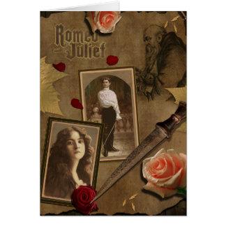 Carte de voeux vintage d'album à Romeo et à Juliet