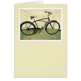 Carte de voeux vintage de bicyclette