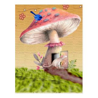 Carte de voeux vintage de Chambre de souris de Cartes Postales