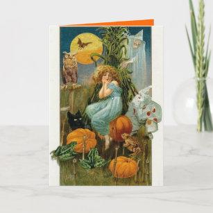 Carte de voeux vintage de Halloween