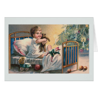"""Carte de voeux vintage """"de matin de Noël"""""""