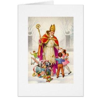 Carte de voeux vintage de Nicholas de saint
