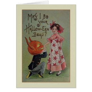 Carte de voeux vintage de proposition de Halloween