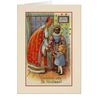 Carte de voeux vintage de Saint-Nicolas de