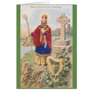 Carte de voeux vintage de St Patrick