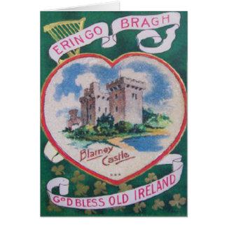 Carte de voeux vintage de St Patrick de château de