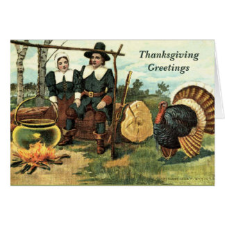 Carte de voeux vintage de thanksgiving