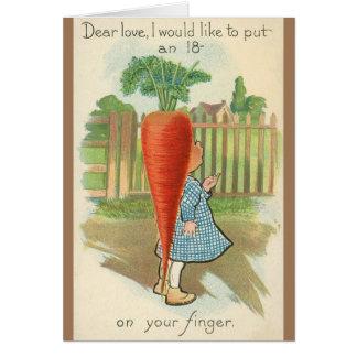 Carte de voeux vintage de Valentine de proposition