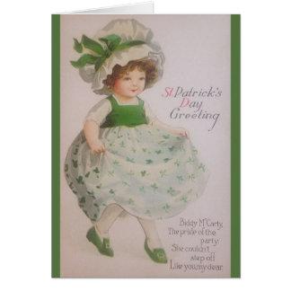 Carte de voeux vintage du jour de St Patrick