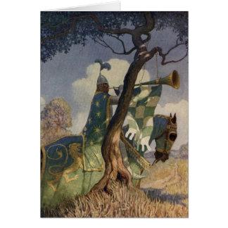 Carte de voeux vintage du Roi Arthur Series 5