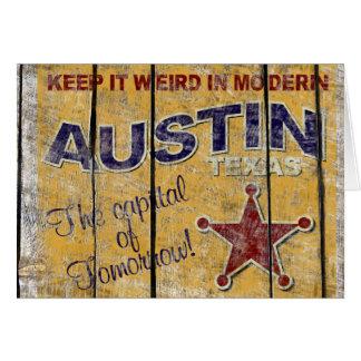 Carte de voeux vintage du Texas - d'Austin